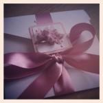 Dusky pink set day invitation