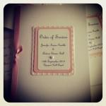 Dusky pink set order of service